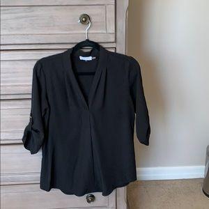Calvin Klein black blouse size small petite EUC